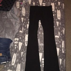 Black boot cut yoga pants
